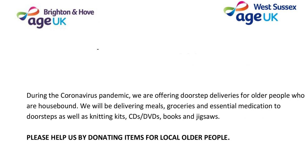 Age UK – Donations Needed for Doorstep Deliveries